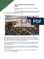 Seminar Motivasi Islam, Seminar Motivasi Indonesia, Seminar Motivasi Islami