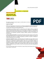 Carta Auspicios Tedx Usfx Sucre Bolivia