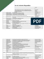 Lista de Hemeroteca de La Cátedra de Antropología Urbana