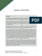 Word Order in Sentences