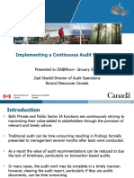 20160120 IIA Continuous Audit Presentation - NRCan