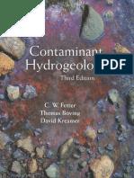 C. W. Fetter, Thomas Boving, David Kreamer-Contaminant Hydrogeology-Waveland Press (2017)