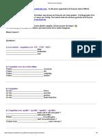 Test de Niveau Français