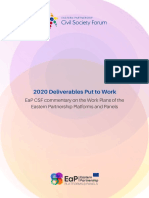 2020 Deliverables Put to Work