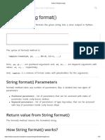 Python String Format()
