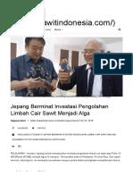 Jepang Berminat Investasi Pengolahan Limbah Cair Sawit Menjadi Alga _ Sawit Indonesia Online