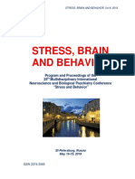 "Program and Proceedings - 25th International ""STRESS AND BEHAVIOR"" Neuroscience and Biopsychiatry Conference, St-Petersburg, Russia (May 16-19, 2018)"