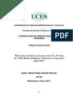 """TESIS COMPLETA 2017 """"Exodo en Villa Rural El Palmar"""" Chaco"""
