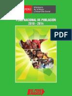 MIMDES Plan Nacional Poblacion 2010-2014
