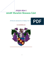 2018 Theatre Season List