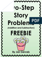twostepstoryproblemsadditionandsubtractionfreebie