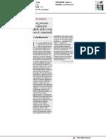 Due persone recuperano parte della vista grazie alle cellule staminali - Il Corriere della Sera del 22 marzo 2018