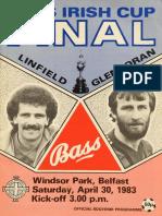 Linfield v Glentoran - ICF 30.04.83