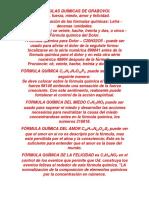 FÓRMULAS QUÍMICAS DE GRABOVOI