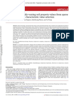 Interpollating spatially varying soil property values