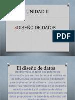Unidad II Diseño de Datos Ingsf