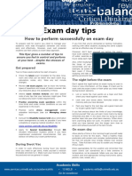 Exam Day Tips Update 051112