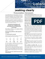 Speaking Clearly - Consonants Update 051112