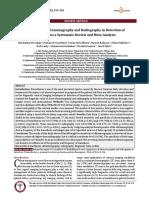 USG & Radiography in Detection of Hemothorax (2016)