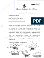Corte Suprema de Justicia sobre liberación López