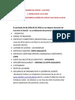 Acte Inscriere licenta Drept 2018 ULBS