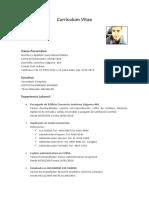 Curriculum Vitae Juan Robles