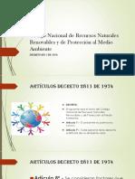 Código Nacional de Recursos Naturales Renovables y De