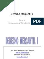 Derecho Mercantil 1 Tema 1
