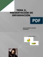 presentación de informacion