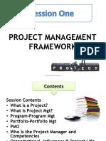 1. Projcet Management Framework