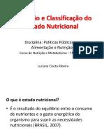 Avaliação e Classificação Do Estado Nutricional