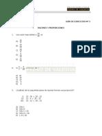 MA05E Razones y Proporciones - Ejercicios
