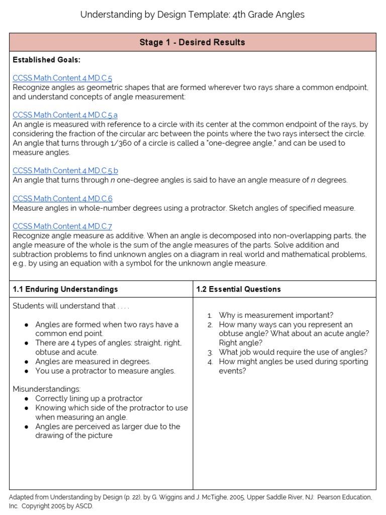 Ubdfinalproject4thgradeangles Angle Physics Mathematics