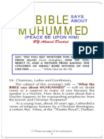 Islam - What does the bibe say about Mohammad