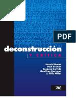 Deconstrucción y Crítica Bloom Derrida Hartman Miller