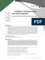 Hipotiroidismo e insufi ci+¬ncia renal Artigo