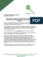 EcoQuest Ltd Meilenstein Grossauftrag Produktion Eine Million Windeln