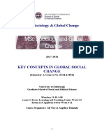 Key Concepts in Global Social Change, 2017-18 Course Handbook
