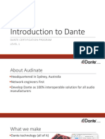 Dante Certification Level 1 Introduction Audio Networking Audinate Pres