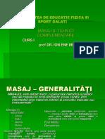 Masaj Si Teh Complementare C1 GENERALITATI