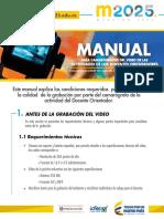 Manual Para Camarógrafos Del Video de Las Actividades de Los Docentes Orientadores