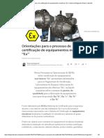 """Orientações Para o Processo de Certificação de Equipamentos Mecânicos """"Ex"""" _ Roberval Bulgarelli _ Pulse _ LinkedIn"""