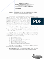 DAO 2010-06 – Guidelines on the Use of Alternative Fuels and Raw Materials in Cement Kilns