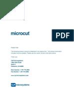 Microcut Jr Manual Rev498 1998scr Drive