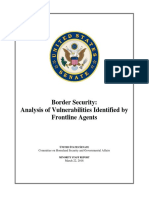 Border Security - Analysis of Vulnerabilities Identified by Frontline Agents