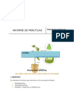 Informe de Practica de Fisiologia Vegetal