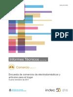Informe venta Electrodomésticos  03 18 - Indec