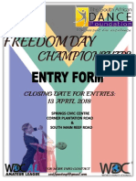 Freedom Day Championships Entry Form 2018