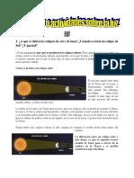 Ejercicios o Actividades Sobre La Luz1