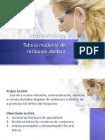 Tehnici Moderne de Restaurari Dentare